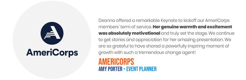 Deana Testimonials - AmeriCorps
