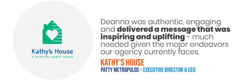 Deana Testimonials - Kathys House