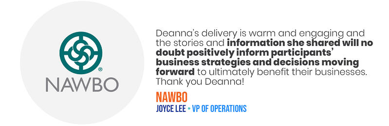 Deana Testimonials - NAWBO