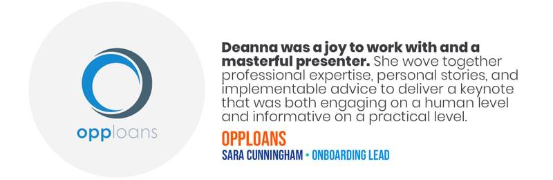 Deana Testimonials - Opp Loans