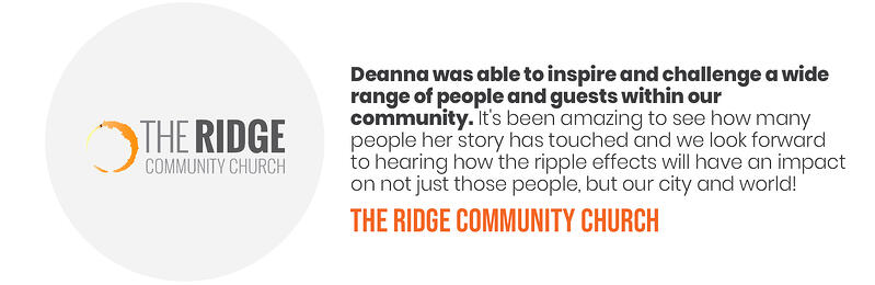 Deana Testimonials - The Ridge